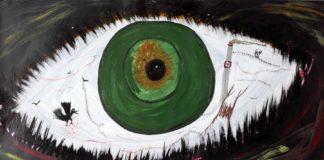 Ceija Stoja: Ohne Titel, Sin título, 1995. Acrílico sobre cartón. 69,5 x 99 cm. Colección Antoine de Galbert, Paris.