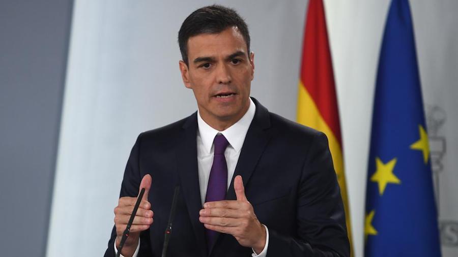 Pedro Sánchez el 17 de marzo de 2020