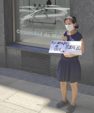 pobreza 735 euros Madrid