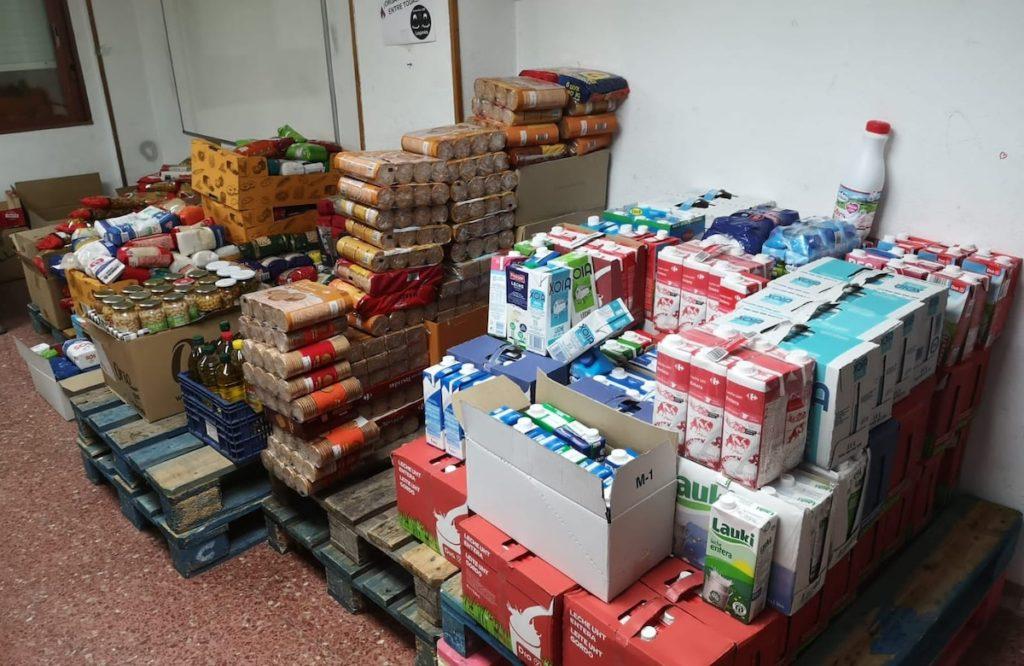 Leganés, alimentos recogidos por la Red de Apoyo Mutuo