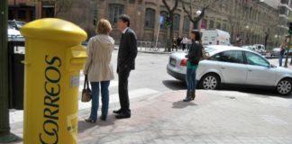 Correos buzón recogida calle