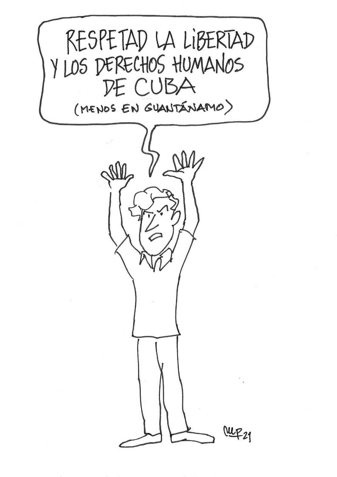 Miguel Porres sobre derechos humanos en Cuba